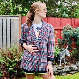 Pendleton 1950s Virgin Wool Plaid Blazer Jacket